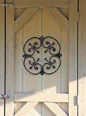 Wood Gate Window, XL Wrought Iron Rosette for Door, Speak Easy grille, doorway, Large Wood Rosette