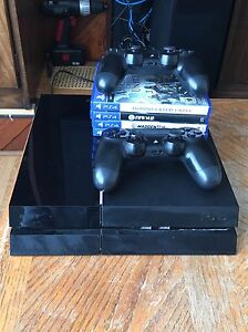PS4 console, 2 PS4 controllers, 4 PS4 video games