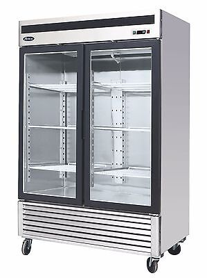 Atosa Usa Mcf8703 Glass 2 Door Merchandiser Stainless Steel Commercial Freezer