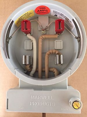 Marwell Kwh Watthour Meter Socket Fm2s 4 Jaws 3w 240v 200a 2000-3w-160