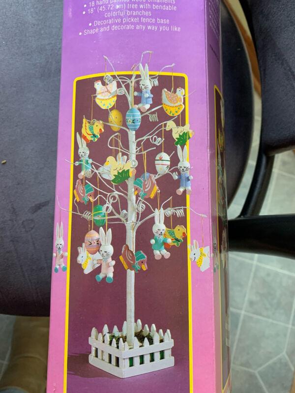 "Vintage Easter Unlimited Easter Tree 18"" Tree Hand Painted"