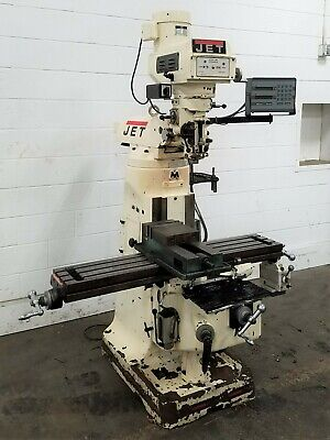 Jtm-4vs Jet 3-hp Vertical Turret Milling Machine With Dro - Used - Am20441