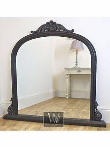 Mantle Black Ornate Overmantle Vintage Wall Mirror 43
