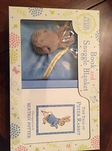Beatrix Potter Snuggling blanket and Book