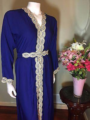 Khaleeji Abaya Arabic ButtonUp Half Open Jilbab Kaftan Made in Dubai M