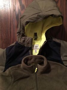 Boys winter jacket with liner size 10/12