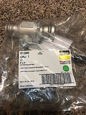 New Viega Propress Ss 81090 1 Pxp Ball Valve 316 Stainless Smart Connect