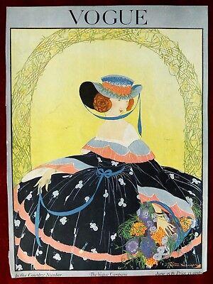 Vogue Magazine Original Cover Only ~ June 15, 1916 ~ Rita Senger