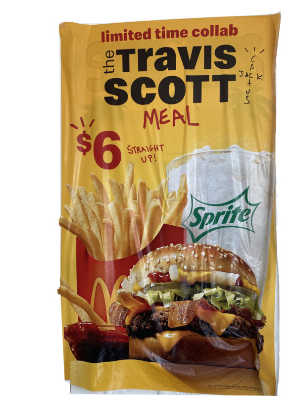 Travis Scott Meal - McDonald's Poster LIMITED EDITION RARE