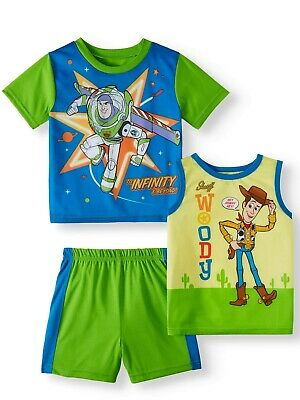 Toy Story 4 Toddler Boys Character Print 3pc Pajama Short Set Size 2T 3T 4T - Toddler Boys Pjs