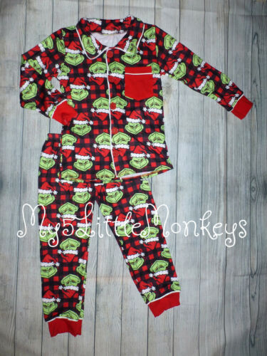 NEW Boutique Grinch Stole Christmas Dr Seuss Boys Pajamas Nightgown