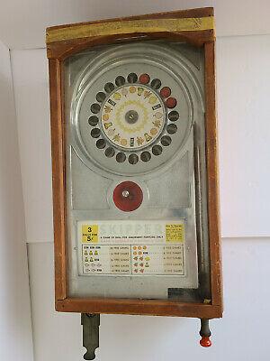Antique Bally Skipper Roulette Trade Stimulator Coin Op Game Machine