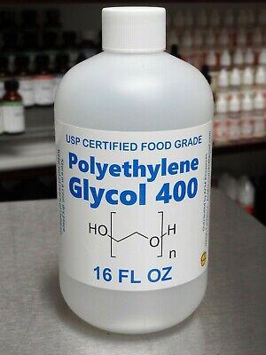 16 Oz Polyethylene Glycol Peg 400 - Usp Food Grade Kosher 99.7 Certified