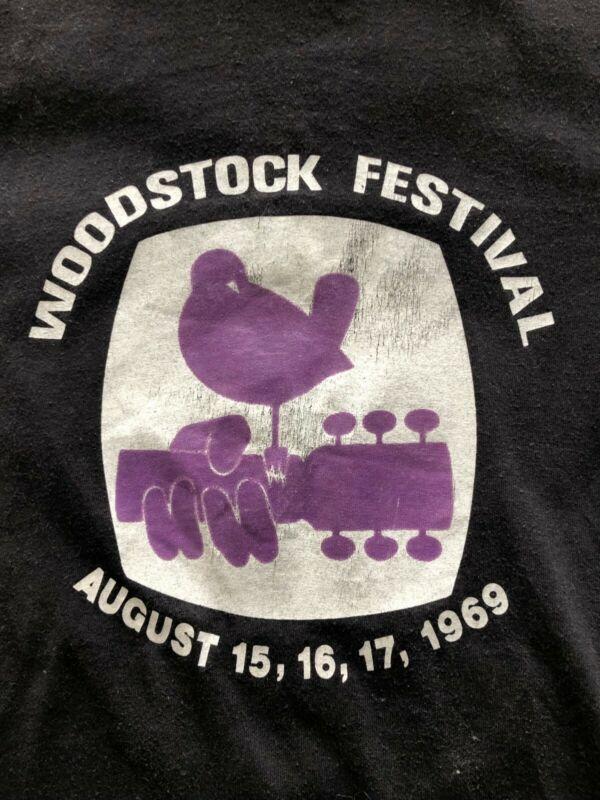 Vtg OG Woodstock 1969 60s 70s Festival T-Shirt Hendrix Santana Joplin