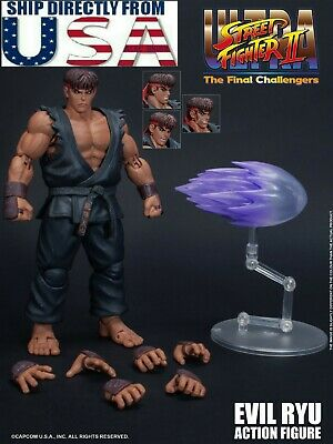 1/12 scale Storm Toys STREET FIGHTER Evil Ryu Male Action Figure Full Set U.S.A., used for sale  Shipping to India