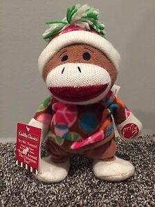 Sock Monkey Animated Singing Toy