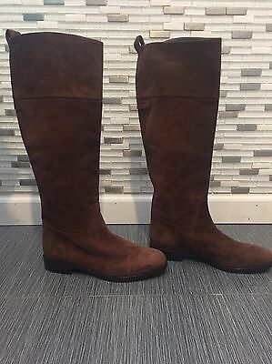 NWOB Dolce Gabbana - Designer - Suede Knee High Boots - Size 38