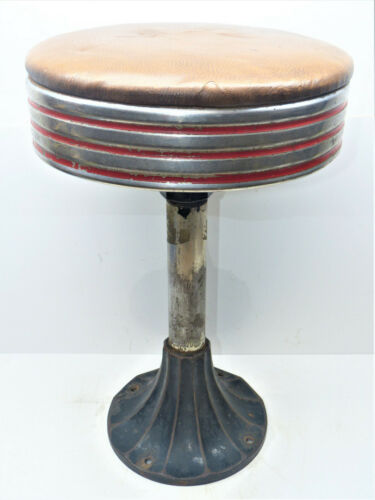 "Vintage 22"" Swivel Stool Diner/Soda Fountain/ Drug Store (4 of 6) INV14939"