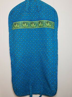 Samsonite Country Provencal Travel Garment Bag Quilted Blue and Green Flower