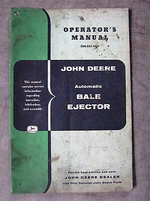 John Deere Automatic Bale Ejector Operators manual