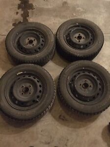 Michelin X-Ice snow tires with rims (set of 4)