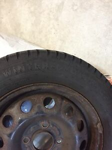 WINTER TIRE ON RIMS FOR SALE - 185/65R14 Cambridge Kitchener Area image 3
