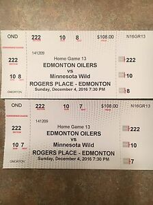 Oiler tickets for tonight's game.