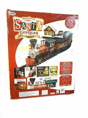Vintage Eztec Santa Express Light Up Train Set 35pc Over 15ft Track 90-782
