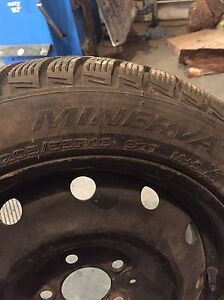 205 - 55 - 16 winter tires with rim 5 bolt