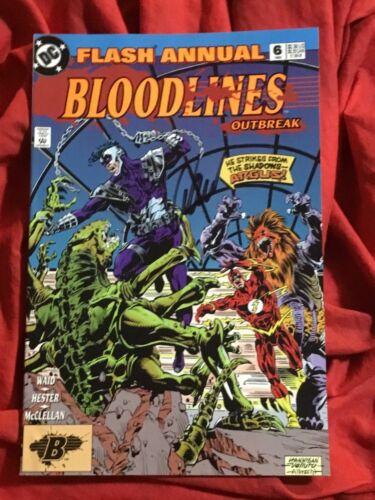 THE FLASH ANNUAL #6~BLOODLINES~SIGNED BY WRITER MARK WAID~DC COMICS BOOK~