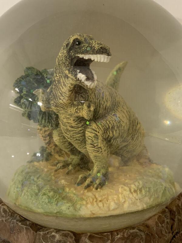 VTG Tyrannosaurus Rex Musical Snow Globe Three Jay