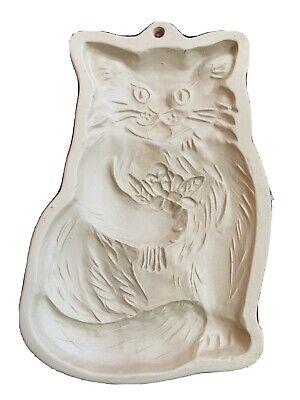 Vintage Brown Bag Cookie Art 1983 Shortbread Cookie Mold Kitty Cat Kitten