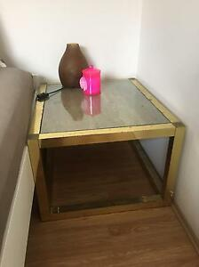 Antique brass and travertine coffee table Rose Bay Eastern Suburbs Preview