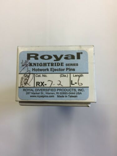 Royal RX-7-2-L6 RX KNIGHTRIDE SERIES H-13 Hotwork Ejector Pins (BOX OF 5)