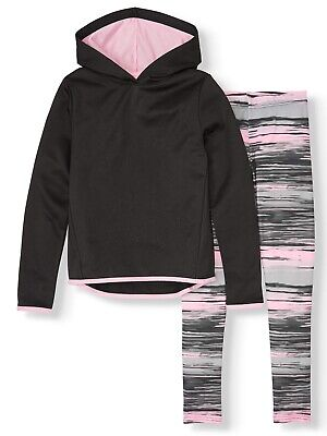 Cheetah Star Print Performance Fleece Hoodie and leggings, 2-Piece Active Set Printed Performance Fleece