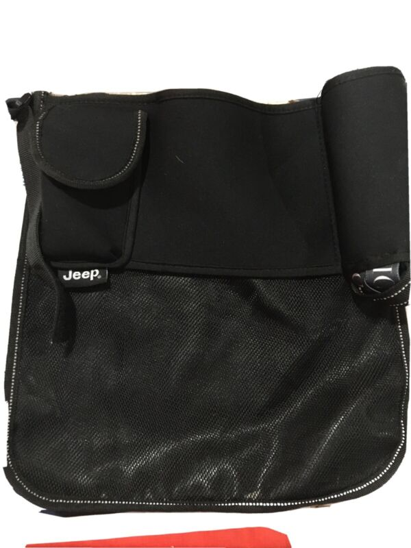 J is for Jeep Stroller Black Tote Bag Storage Organizer for Baby Strollers