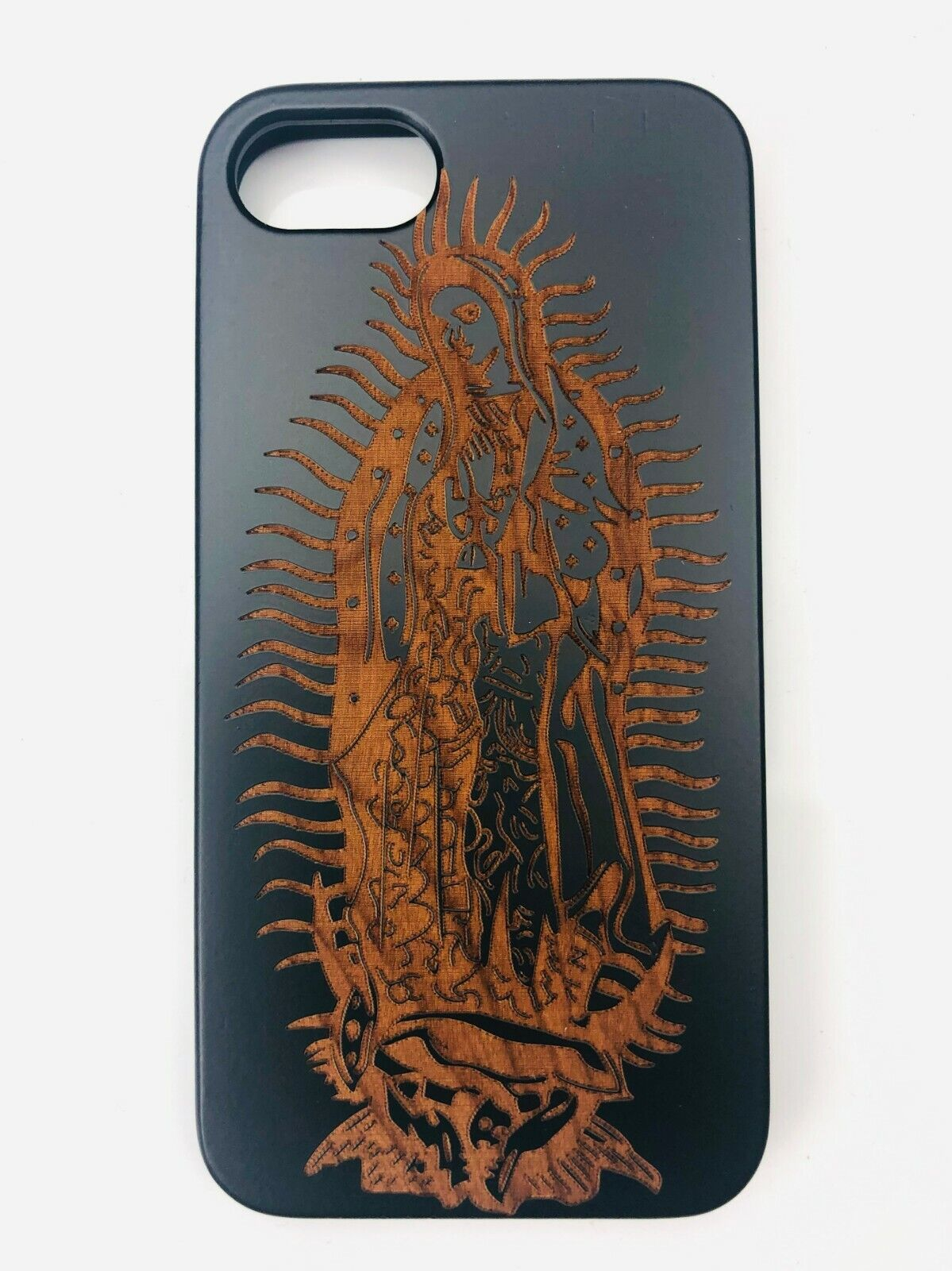 Lady Of Guadalupe Statue Virgin Mary Virgen Maria De Guadalupe Wood Phone Case Cases, Covers & Skins