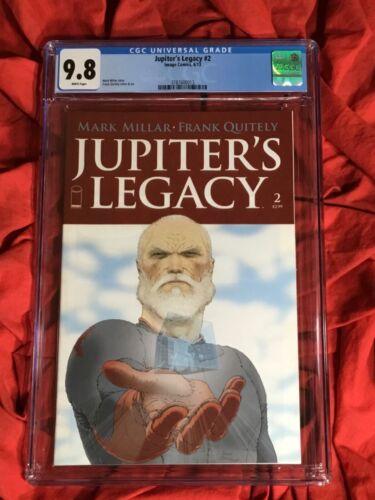 CGC 9.8~JUPITER'S LEGACY #2~COVER A~QUITELY ART~MILLAR STORY~NEW NETFLIX SHOW