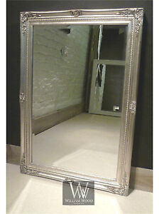 Cannes Silver Shabby Chic Rectangle Antique Wall Mirror  40