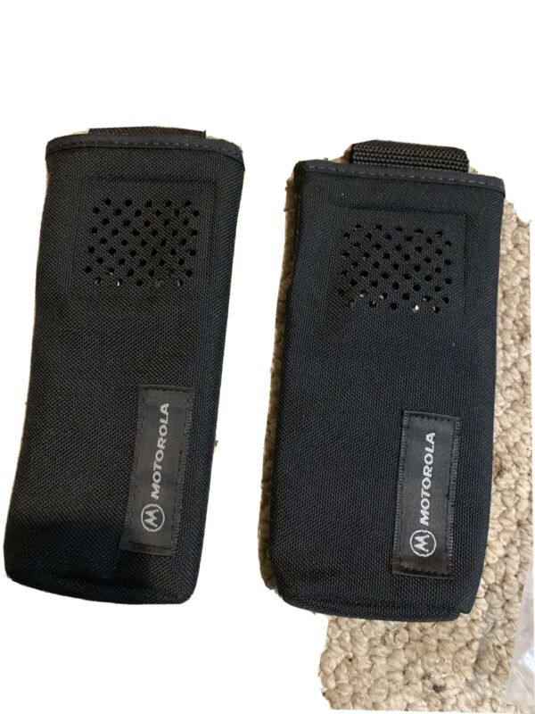 Nylon Carry Case Holster for Motorola Two Way Radio Belt With Snaps