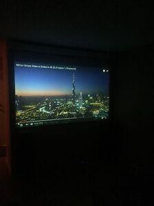 Projector+speakers+motorized screen