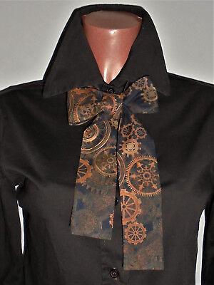 Steampunk Schleife Braun Zahnräder Viktorianisch Gothic Cosplay Kawaii - Cosplay Steampunk Kostüm