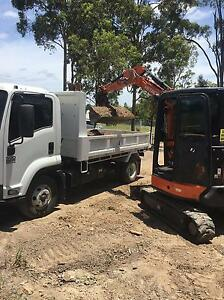 Dry hire 5 ton tipper and 3.5 ton aircon excavator with a power head Pacific Pines Gold Coast City Preview