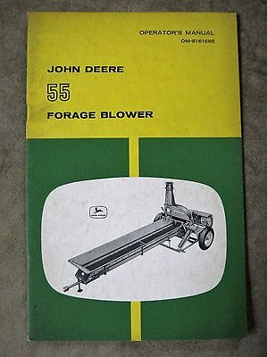 John Deere 55 Forage Blower Operators manual