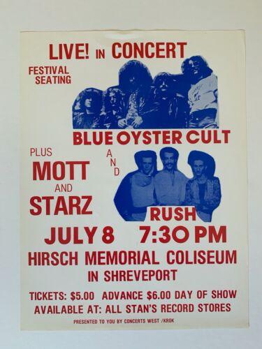 Blue Oyster Cult And Rush Original Concert Handbill