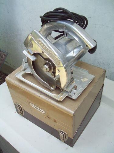 "Vintage 1958 Sears Craftsman 6-1/2"" Electric Circular Saw w/ Case TESTED GUC"