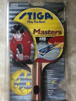 STIGA MASTERS RACKET for TABLE TENNIS / PING PONG PADDLE / USATT - SKU: T6932