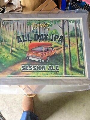 founders brewing all day IPA  and founders logo bar mirrors...local pick up only