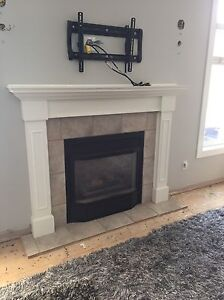 Fire place mantel and insert