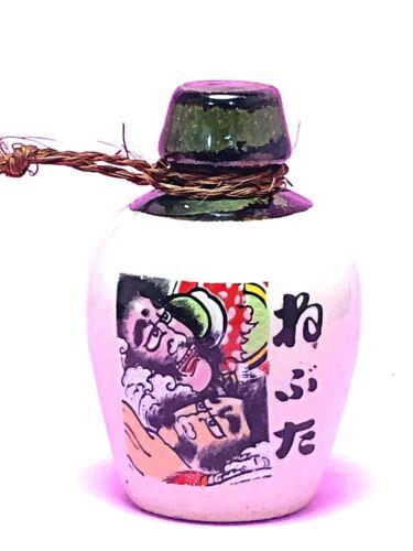 Japanese Clay Bell Kite Tsugaru-Dako Painting Mint Sake Bottle Tokkuri Shape